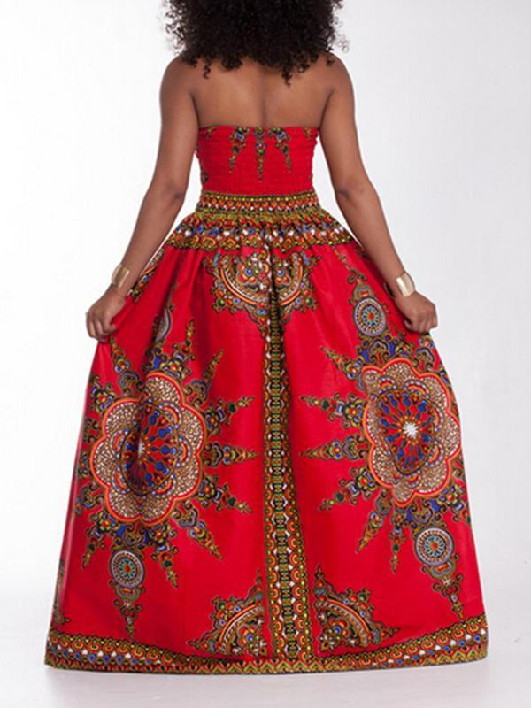 Boho Push Up Sweetheart Maxi Dress