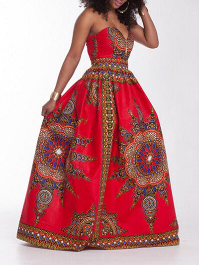 Dresses - Boho Push Up Sweetheart Maxi Dress
