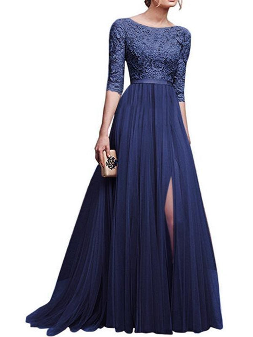 Dresses - High Waist Chiffon Maxi Dress