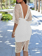 Load image into Gallery viewer, Dresses - Lace Up Bodycon Cloak Dress