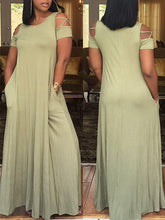 Load image into Gallery viewer, Dresses - Plain Color Maxi Dress