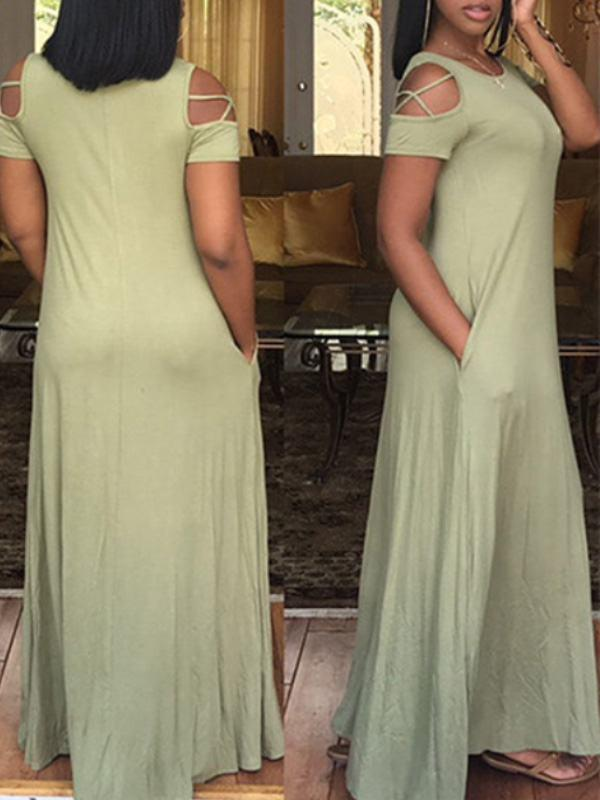 Dresses - Plain Color Maxi Dress