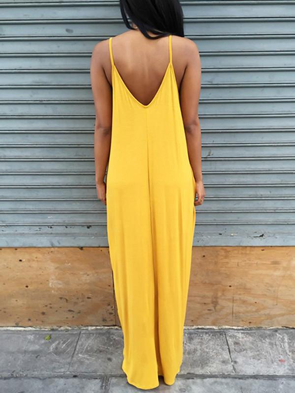 Dresses - Strappy V Slouchy Dress
