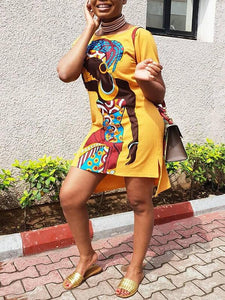 African Girl Tee Dress - clearance