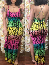 Load image into Gallery viewer, Leopard Print Slit Maxi Dress