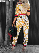 Load image into Gallery viewer, Jumpsuits - Patchwork Print One Shoulder Jumpsuit