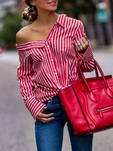 Red Striped Long Sleeve Shirt - Only S Left