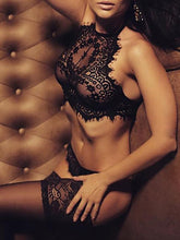 Load image into Gallery viewer, Lingerie - Alluring Lace Eyelash Lingerie Sets
