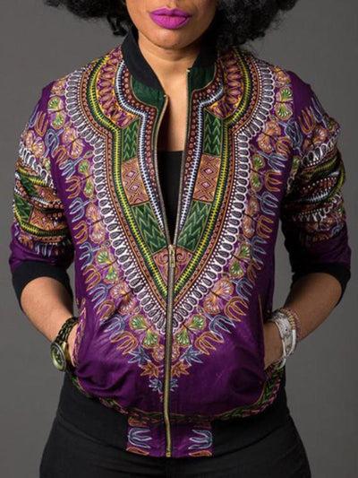 Outerwear - Dashiki Long Sleeve Jacket