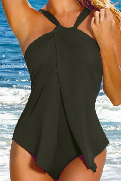 Swimwear - Halter Neck One Piece Swimsuit