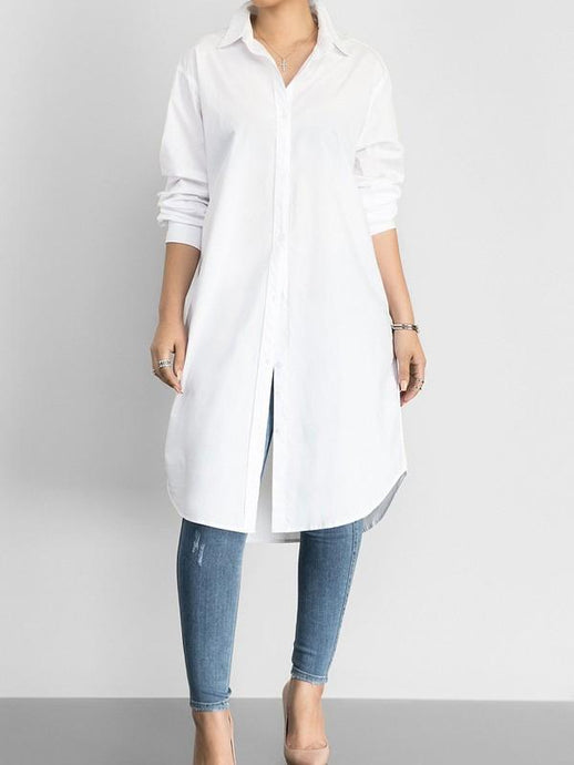 Tops - Solid Loose Classic Shirt