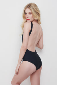 OPEN BACK SWIMSUIT - BLACK