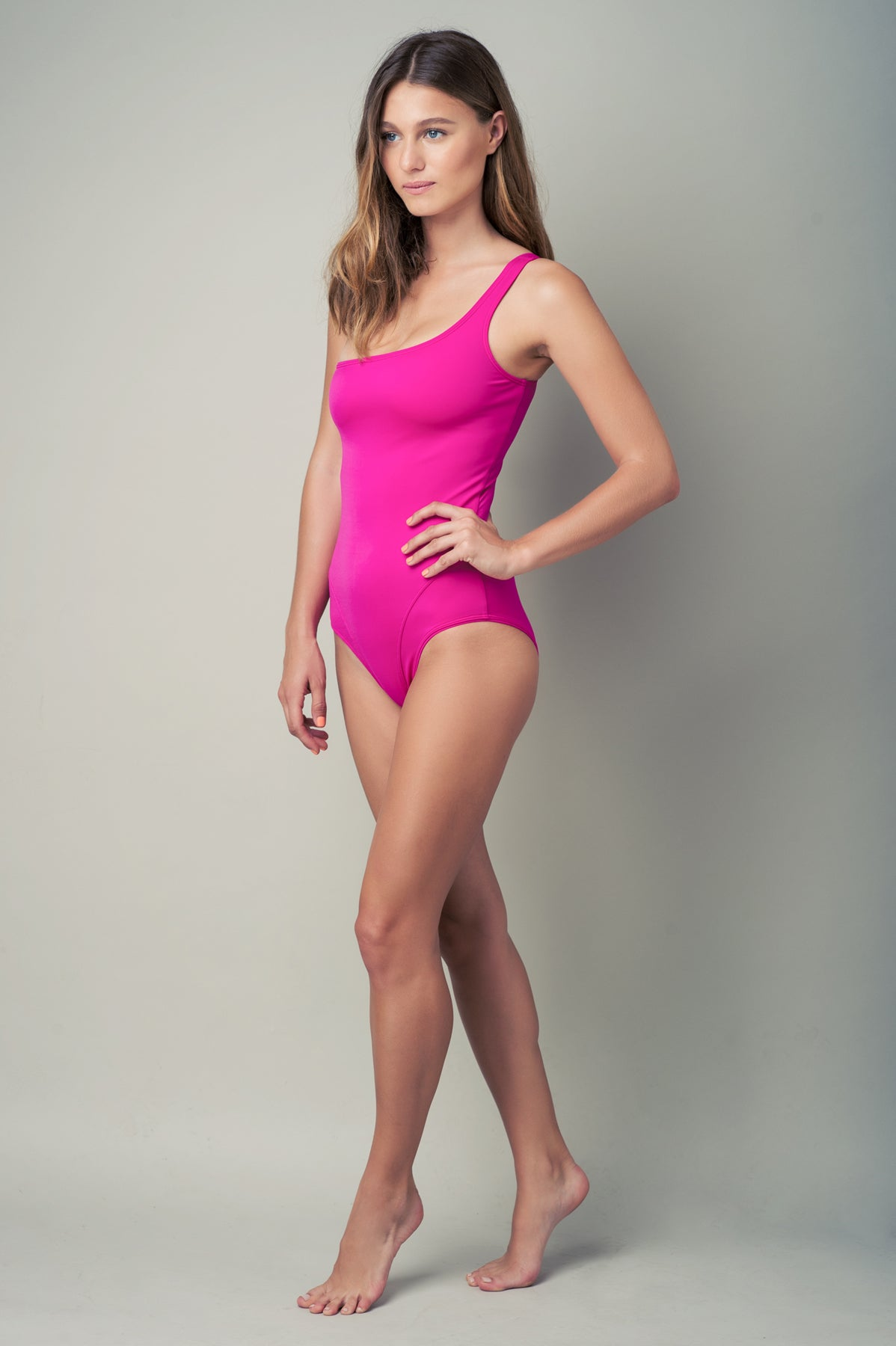 OFF SHOULDER ONE PIECE - PINK