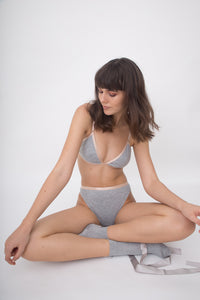 COTTON UNDERWEAR SET - GRAY