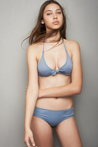 Full Bikini Set Gray Pastel Color