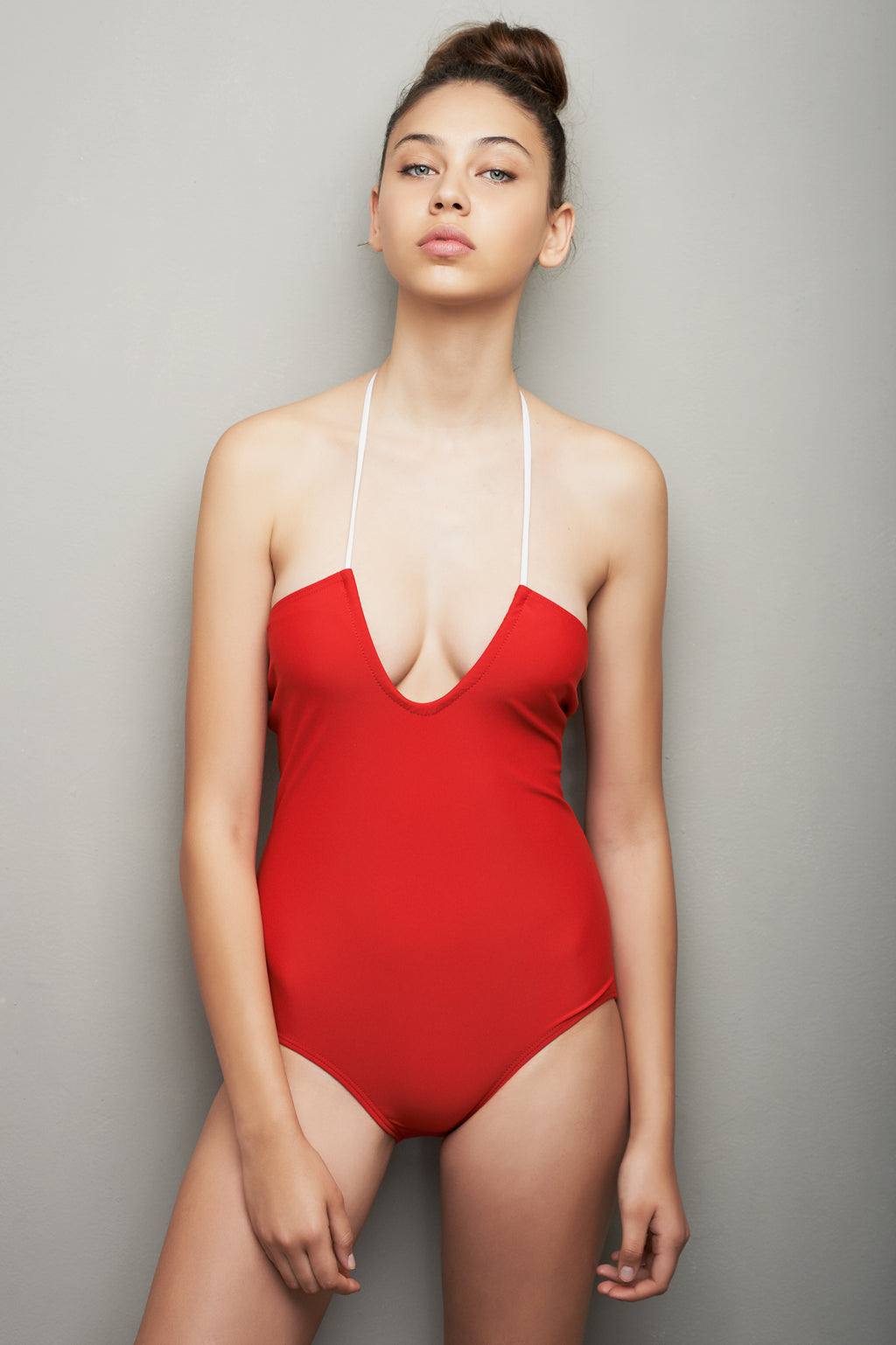 U-SHAPE ONE PIECE - RED