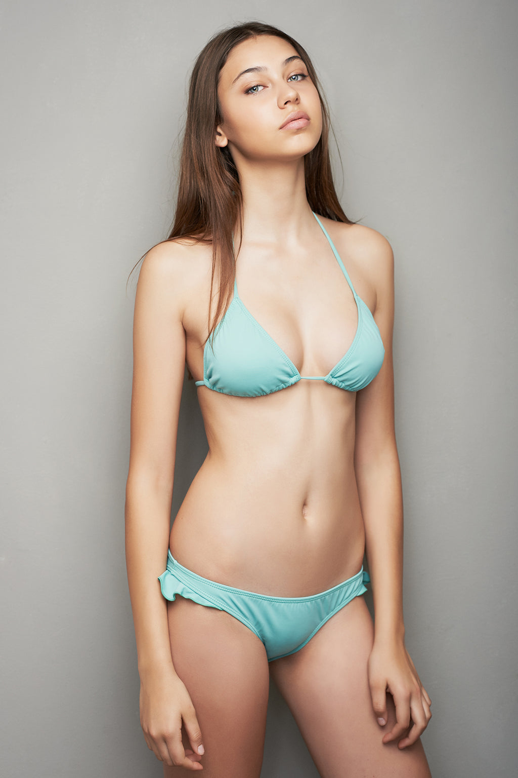 TRIANGLE BIKINI SET - PASTEL GREEN