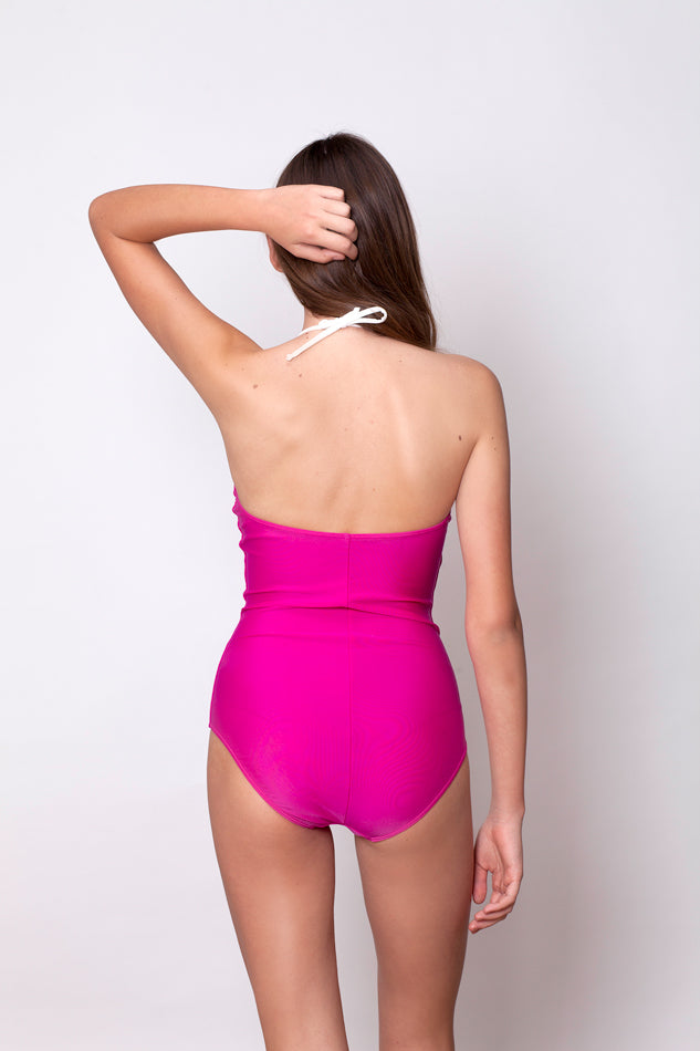U-SHAPE ONE PIECE - PINK