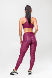 GeoShapes Red Leggings