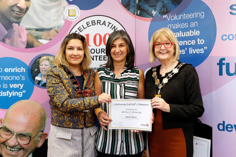 100 Hours Awards for Forty Hall Vineyard Volunteers