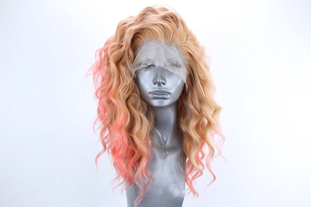 Amber- Pink Tipped Sandy Blonde