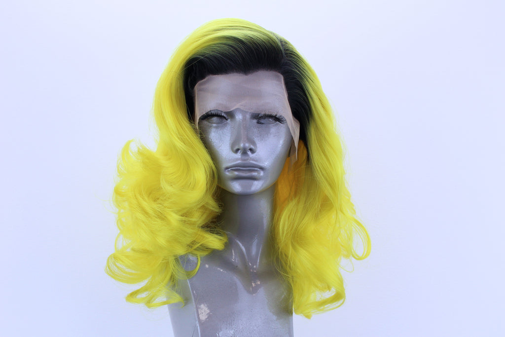 Marilyn- Black Rooted Neon Yellow