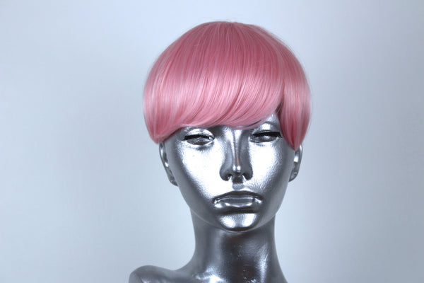 Clip On Bangs- Baby Pink