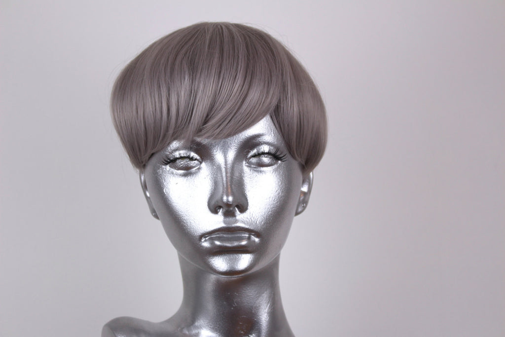 Clip on Bangs- Steel Grey