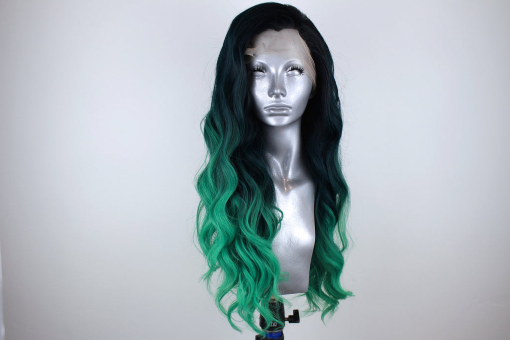 Daisy- Rooted Mermaid Green Ombre