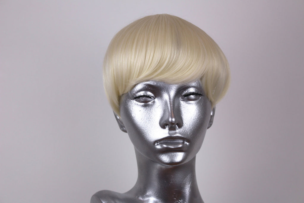 Clip on Bangs- Platinum