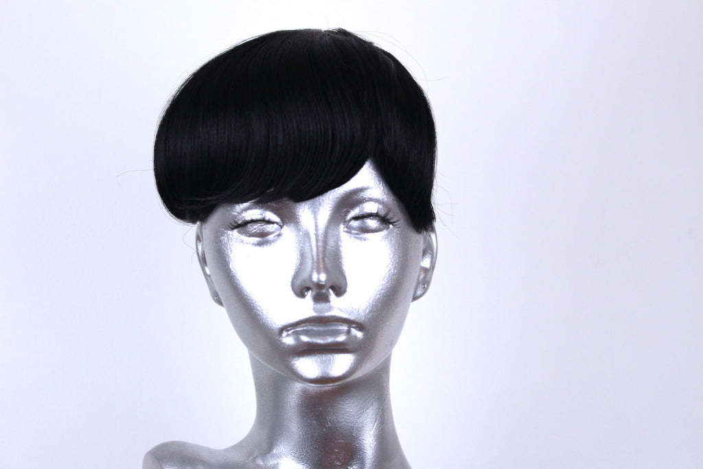 Clip on Bangs- Pure Black