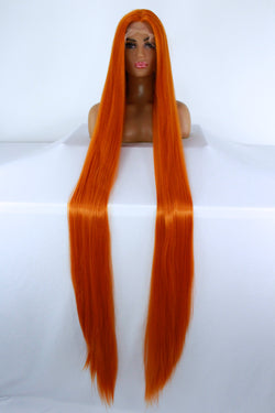 "65"" Pumpkin Orange Lacefront Wig"