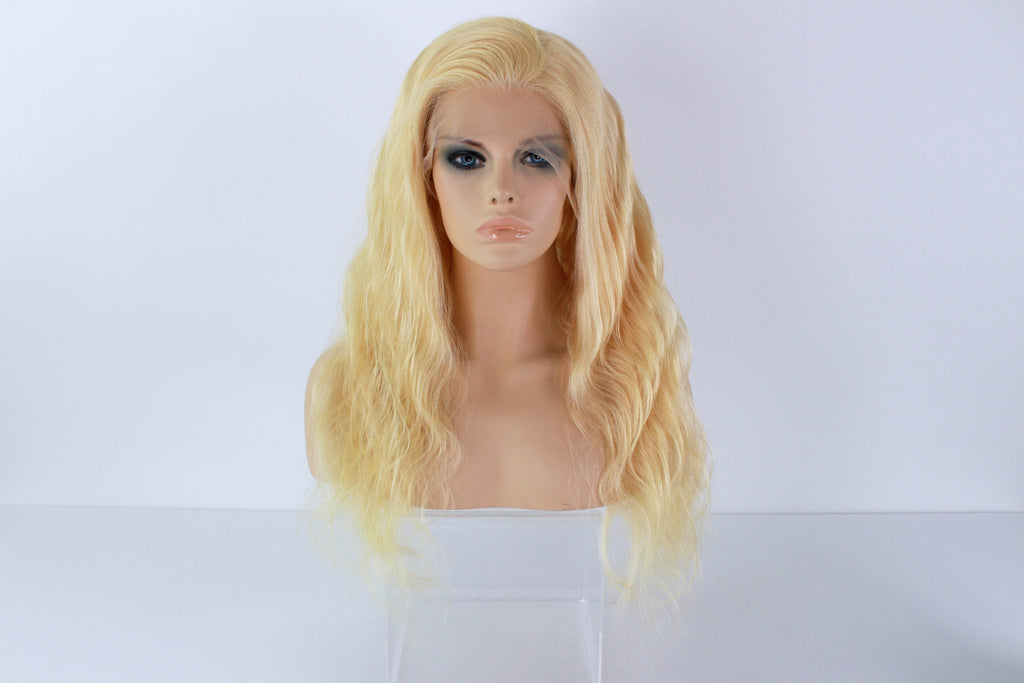 613 Blonde Human Hair Lacefront Wig