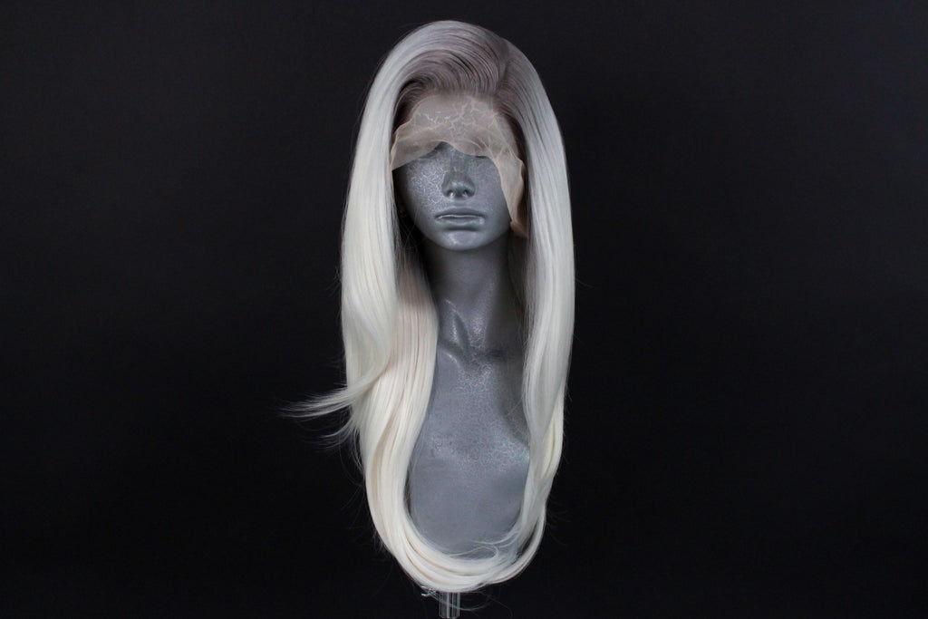 Millie- Silver Rooted Ice Blonde