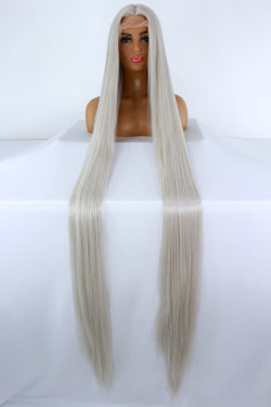 "65"" Silver Lacefront Wig"