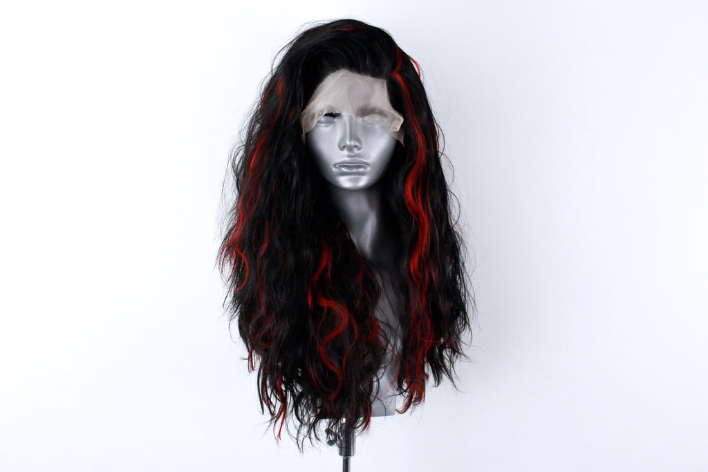 Ariel- Red Highlighted Black