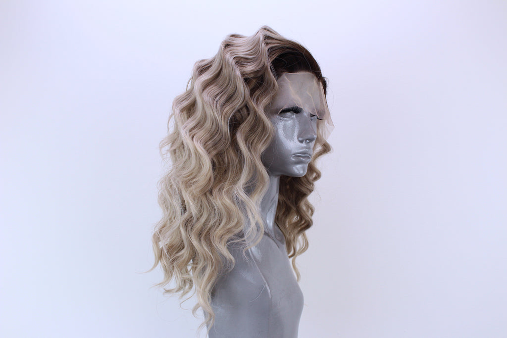 Amber Ash Blonde Ombre Webster Wigs