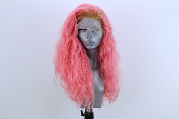Ariel- Strawberry Blonde Rooted Pastel Pink