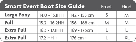 Woof Wear Event boots size guide
