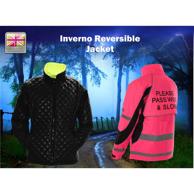 Equisafety Inverno Reflective Jacket Pink