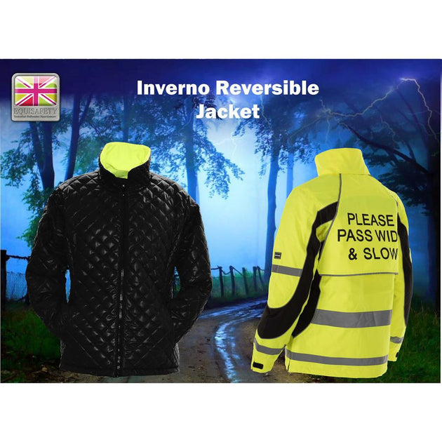 Equisafety Inverno Reflective Jacket Yellow