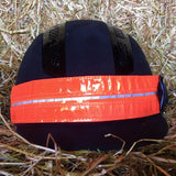 Equisafety LED flashing headband orange