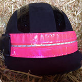Equisafety LED flashing headband pink