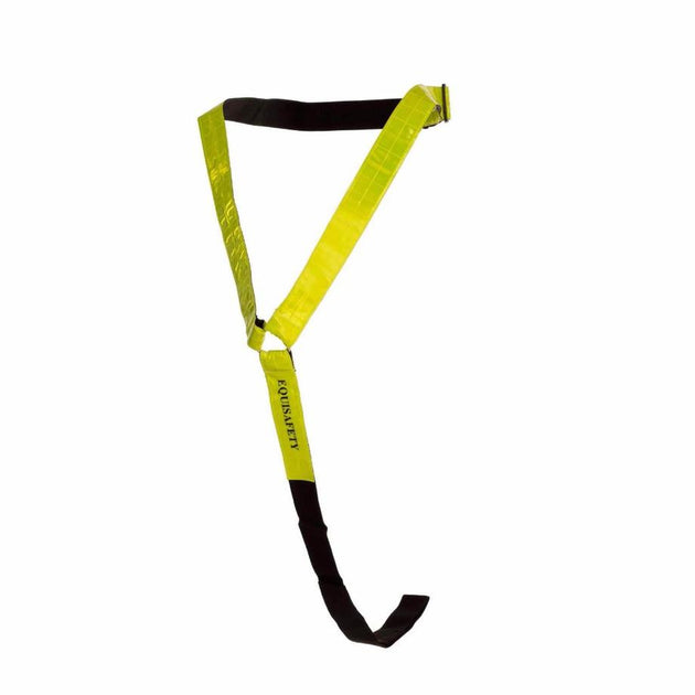 Equistyle yellow reflective neck band