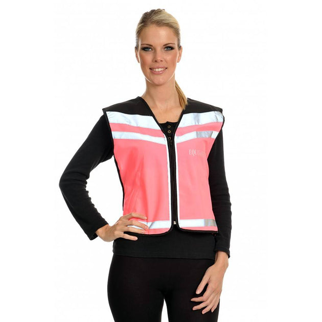 Equisafety Air Waistcoat Caution Young Horse Pink