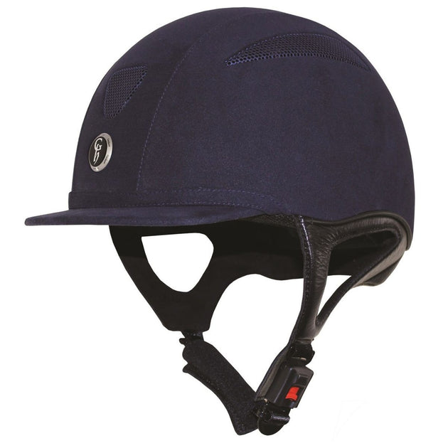 Gatehouse riding hat challenger suede navy blue