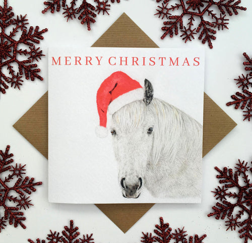 Laura Mary Art Horse Christmas Card