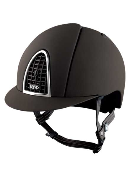 KEP Cromo T riding hat helmet brown Equissimo
