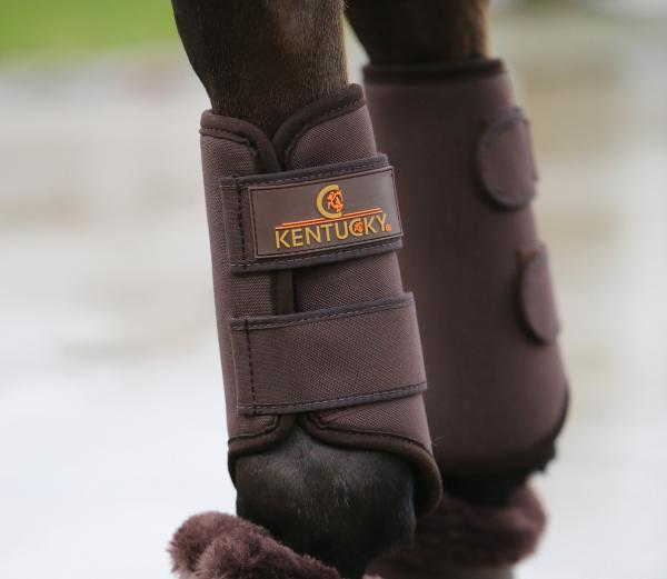 Kentucky Horsewear 3D Spacer Turnout Boot front brown