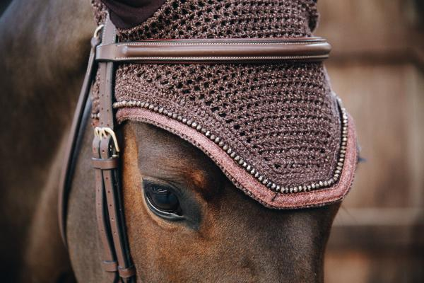 Kentucky Horsewear Flyr Veil Wellington glitter band brown